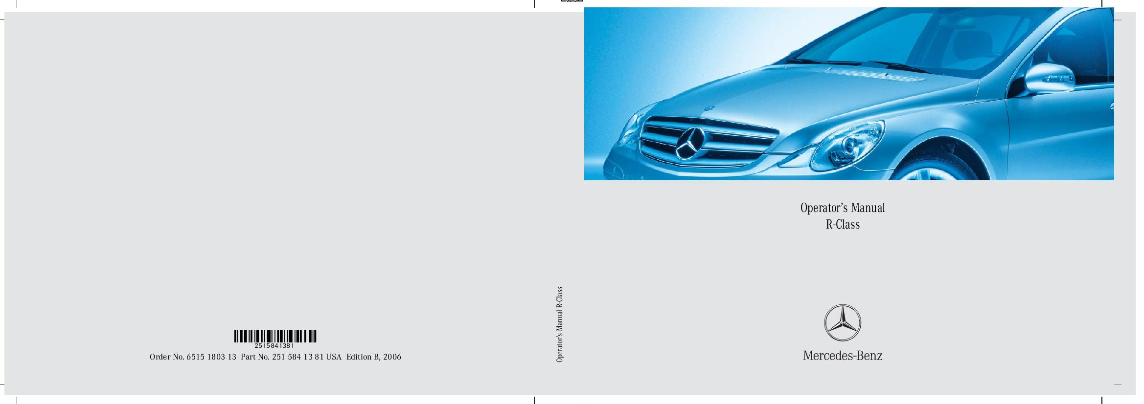 2006 mercedes benz r350 owners manual